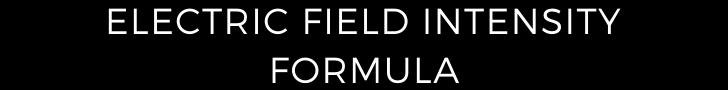 electric field intensity formula
