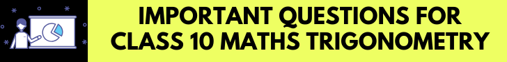 important questions for class 10 maths trigonometry
