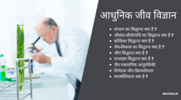 आधुनिक जीव विज्ञान – Modern Biology in Hindi