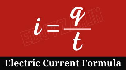 विद्युत धारा का सूत्र