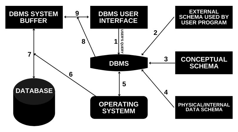 Diagramatic Representation of Database Access